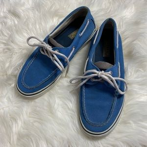 SPERRY TOP-SIDER • Men's Blue White Tie Boat Shoes